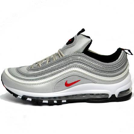 Кроссовки Nike Air Max 97 Bullet мужские \ женские (серые) Top replic, фото 2
