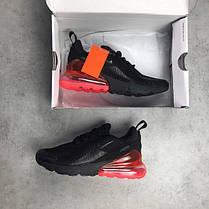 Мужские кроссовки Nike Air Max 270 Black Red топ реплика , фото 3