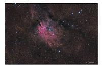 Высококачественный фотопринт Туманность NGC 6820 BonaDi STAR12