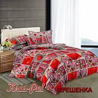 Евро макси набор постельного белья 200*220 из Сатина №324 KRISPOL™