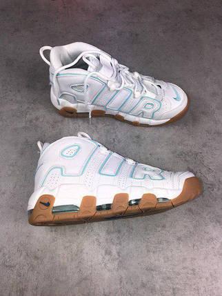 Женские кроссовки Nike Air More Uptempo White топ реплика, фото 2