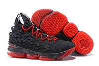 Баскетбольные кроссовки Nike Lebron 15 Black/Red Реплика