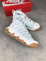Мужские кроссовки Nike Air More Uptempo белые топ реплика , фото 3
