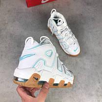Мужские кроссовки Nike Air More Uptempo белые топ реплика , фото 2