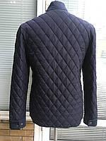 Мужская весенняя стёганая куртка синий