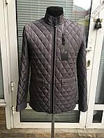 Мужская весенняя стёганая куртка серый