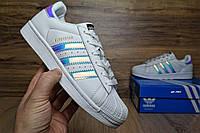 Женские кроссовки Adidas SuperStar с перламутром