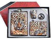 Подарочный набор фляга, рюмка, лейка, портсигар DJH-0717 9339 СО