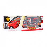 Трейлер 55см, пожарная машина, транспорт, LA-015B