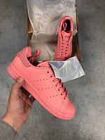 Женские кроссовки Adidas Stan Smith Pink топ реплика