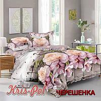 Полуторный набор постельного белья 150*220 из Сатина №327 KRISPOL™