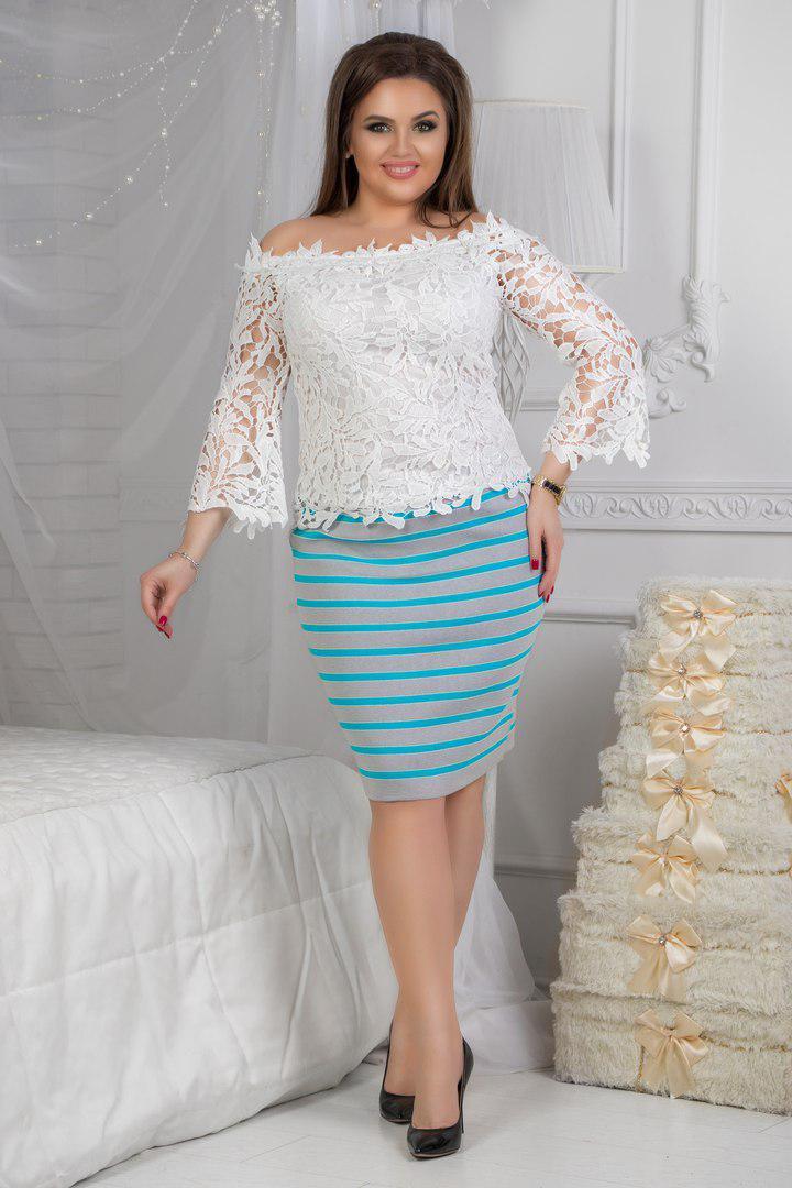 Трикотажная юбка   .(размеры48-54) 0070-99