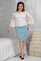 Трикотажная юбка   .(размеры48-54) 0070-99, фото 1