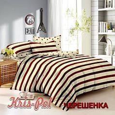 Полуторный набор постельного белья 150*220 из Сатина №3210AB KRISPOL™
