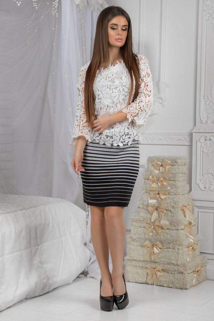 Трикотажная юбка   .(размеры42-48) 0071-00