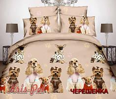 Полуторный набор постельного белья 150*220 из Сатина №311 KRISPOL™