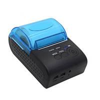 Мобільний термопринтер чеків для POS-принтер Mini ZJ-5805DD 58мм Bluetooth, фото 1