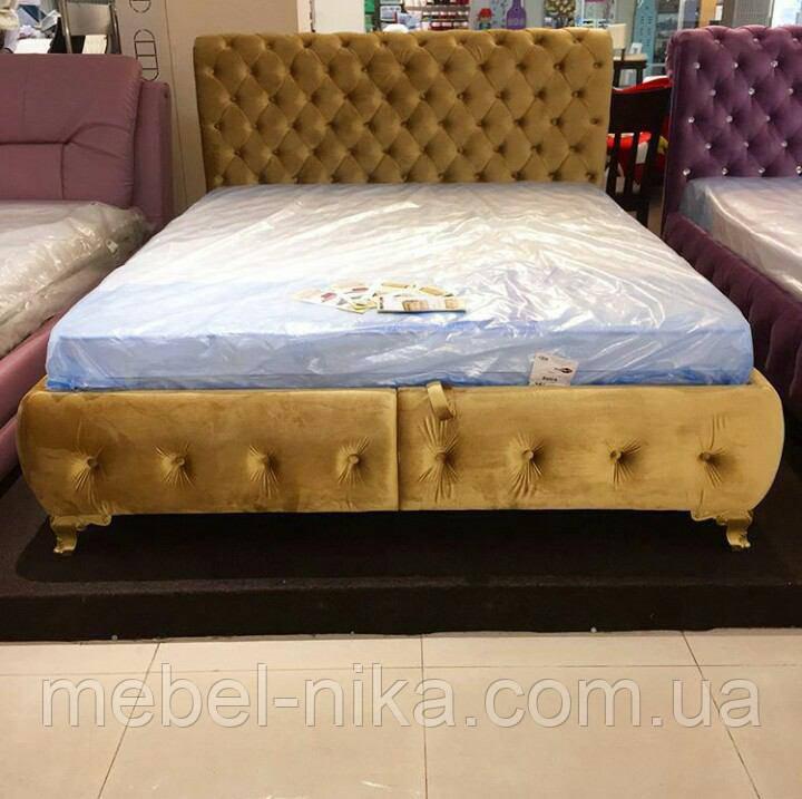 Кровать Клеопатра 1,6 коричневая (ящик из 2-х половин)