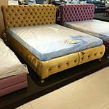 Кровать Клеопатра 1,6 коричневая (ящик из 2-х половин), фото 2