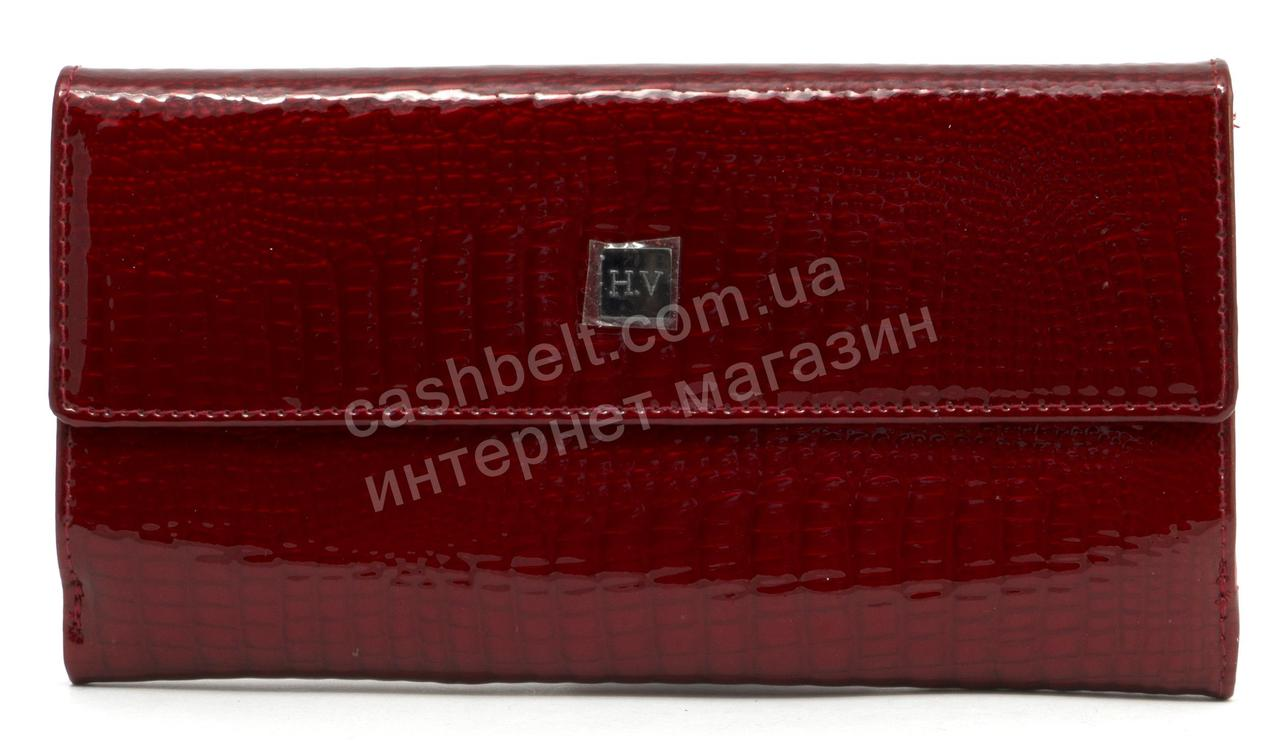 Стильный шикарный женский лаковый кошелек высокого качества SALFEITE art. 2618-44 бордовый