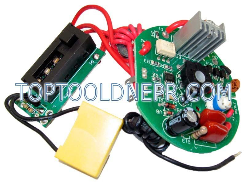 Блок электроники для фена Интерскол ФЭ-2000Э в сборе с выключателем