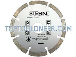 Круг отрезной по бетону алмазный 115 S stern