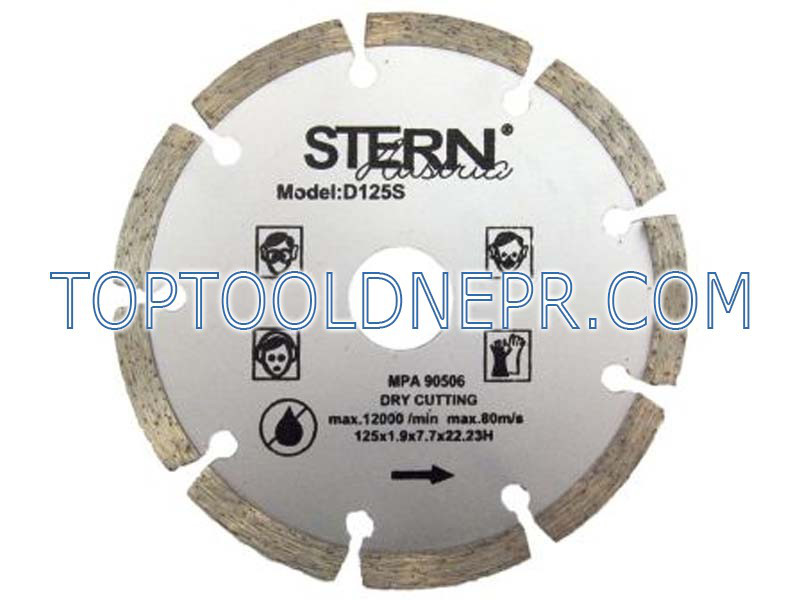 Круг отрезной по бетону алмазный 125 S Stern