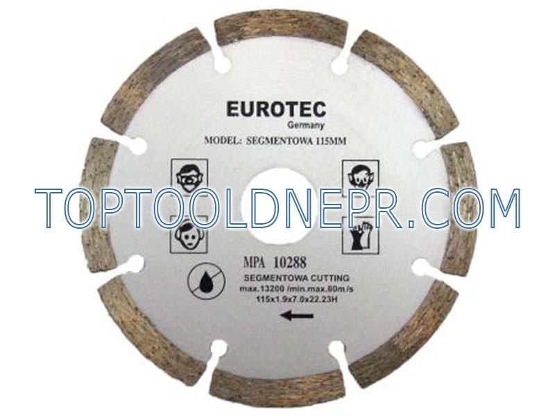 Круг отрезной по бетону алмазный 115 S eurotec
