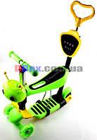 Самокат детский Scooter Пчелка 5 in 1 сидушка корзинка родительская ручка подножки