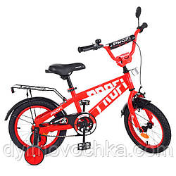 Велосипед детский двухколесный Flash T14171 Profi, 14 дюймов, красный
