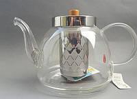 """Стеклянный заварник для чая """"CHI KAO"""" 1200мл."""