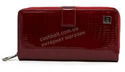 Стильный оригинальный женский кожаный кошелек барсетка высокого качества SALFEITEart. 2605-44 бордовый лак
