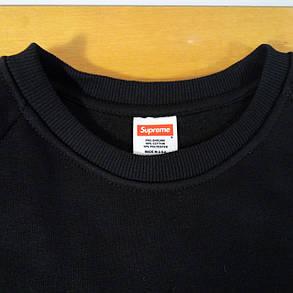 Свитшот Supreme Box logo мужской | Вышитый лого, фото 2