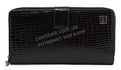 Стильный оригинальный женский кожаный кошелек барсетка высокого качества SALFEITEart. 2605-67 черный лак