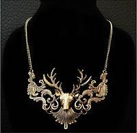 Красивое женское ожерелье на шею Золотой Олень!