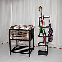 Кованая подставка для зонтов в стиле Лофт черная І Зонтовница I Корзина для зонтов, фото 1