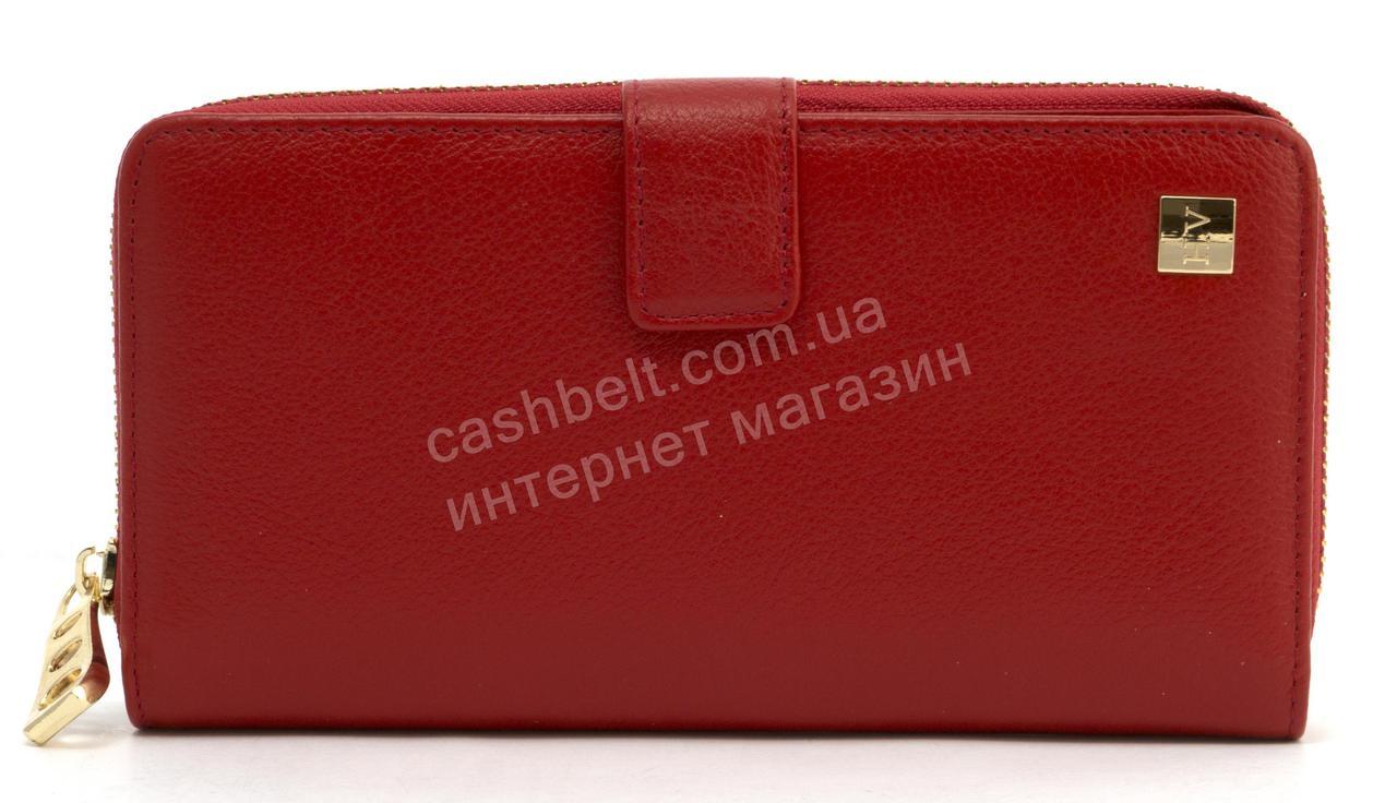 Стильний оригінальний жіночий шкіряний гаманець барсетка високої якості SALFEITE art. 2605S червоний