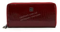 Кожаный прочный женский кошелек барсетка на две молнииSALFEITE art.2547-44 бордовый лаковый