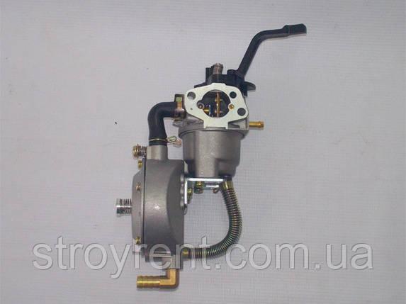 Карбюратор газ-бензин для генератора 2-3кВт, Honda GX-160, фото 2