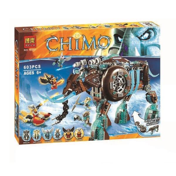 Конструктор Bela 10297 аналог LEGO Chima Ледяной мамонт-штурмовик Маулы 603 дет