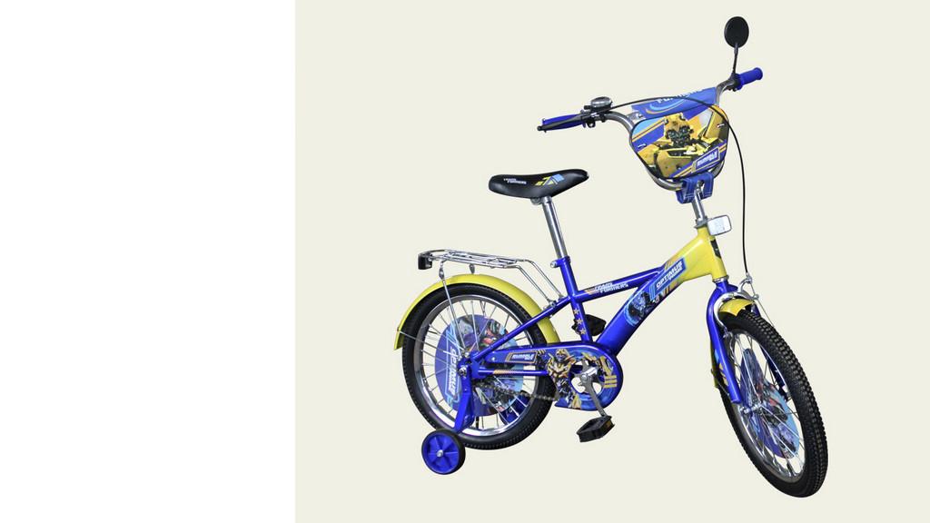"""Велосипед двухколесный 16 дюймов """"Трансформеры"""" со звонком, зеркалом, ручным тормозом"""