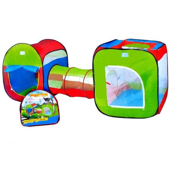 """Детская двойная палатка с тоннелем 999-120, """"3 в 1""""  240х74х84 см"""