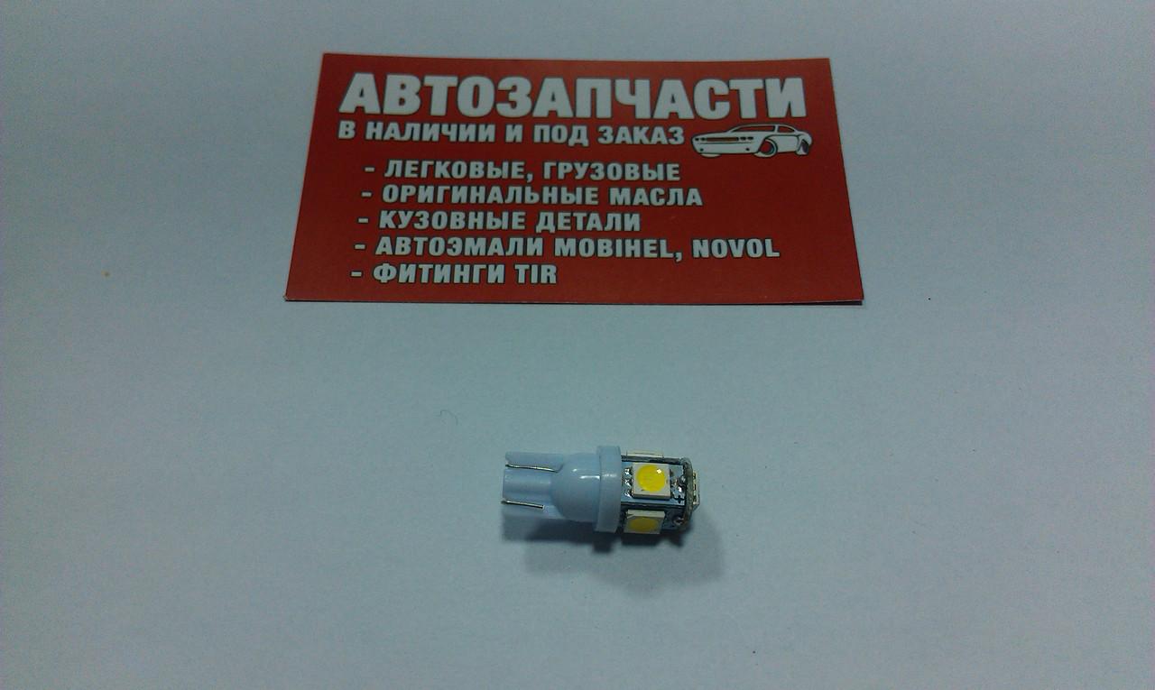 Лампа без цокольная 12V 5 диодов