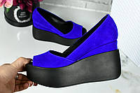 Туфли на платформе Материал: Натур замш