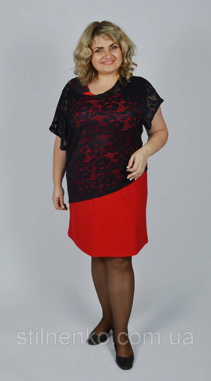 Элегантное коктейльное платье большого размера 56-58, 58-60, 60-62