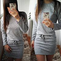 Женское платье из ангоры Мартина с карманами / размер 42-44,46-48,50-52 цвет серый