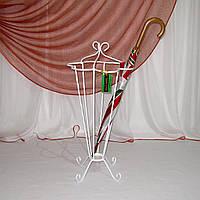Зонтовница белая. Кованая подставка под зонты, фото 1