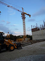 Монтаж башенного крана FO 23B Одесса