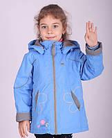 Детская куртка демисезонная для девочки от Кико на флисе 09YL8041A, на рост 80-110