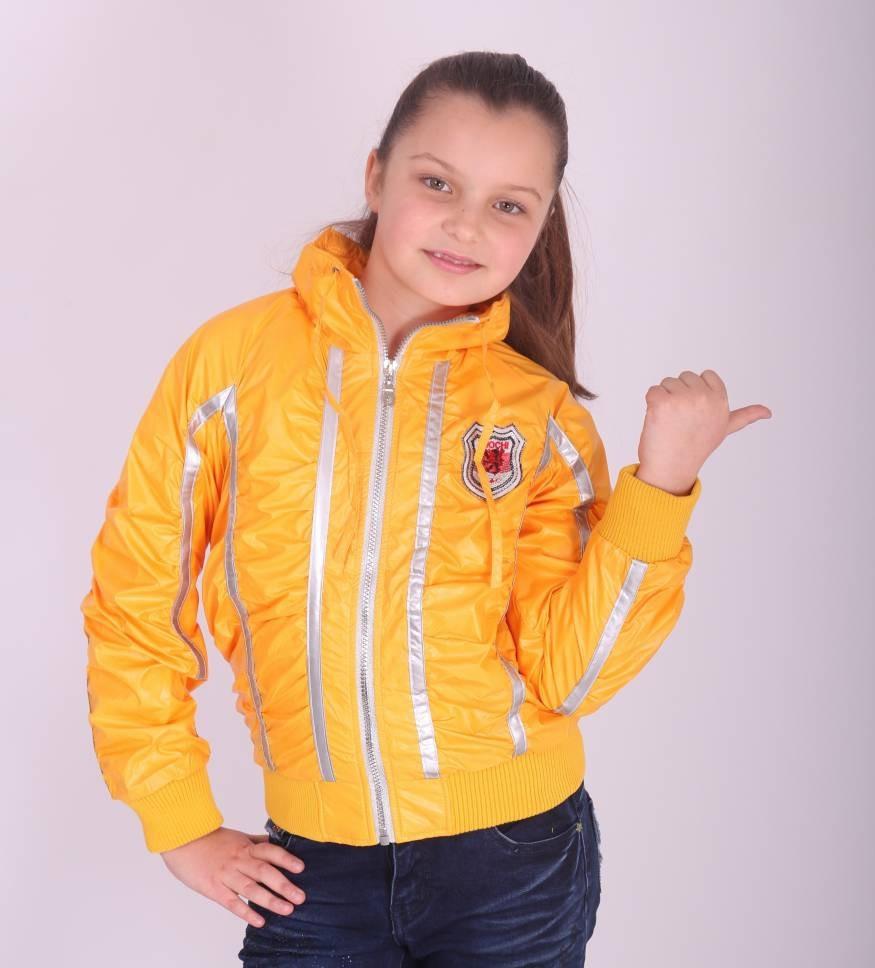 Детская демисезонная куртка для девочки BADIAN на флисе, № 2389